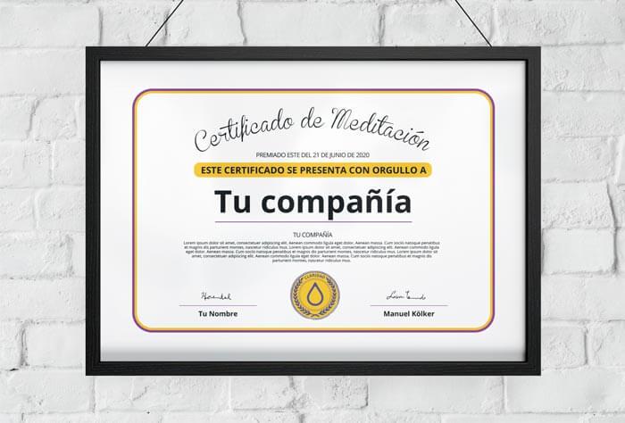 Certificado de Meditación